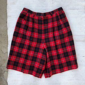 Vintage pendleton high waisted plaid shorts